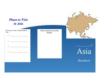 Asia Activity (Make a Brochure)