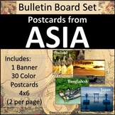 Asia Bulletin Board Set - Postcards