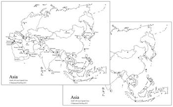 Asian Capital Cities Map