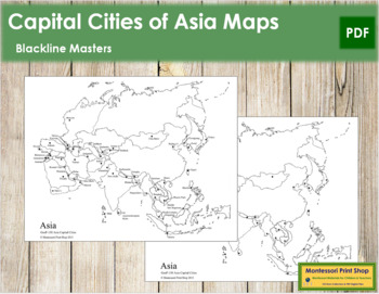 Map Of Asia With Capital Cities.Asian Capital Cities Map