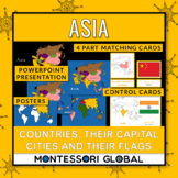 Asia - Continent, Countries, their Flags and their Capital Cities