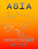 Asia Continent Study - All 52 Asian Countries - Worksheets