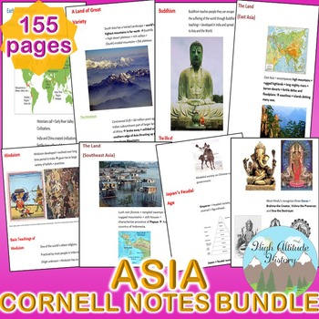 Asia Cornell Notes *Bundle* (Geography) South Asia, East Asia, Southeast Asia