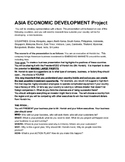 Asia Country Economic Development Business Creation Project
