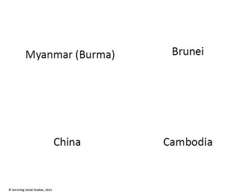Asia - Country Flash Cards - Learn the Countries of Asia!
