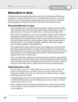 Asia: Culture: Education