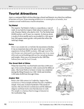 Asia: Culture: Tourist Attractions