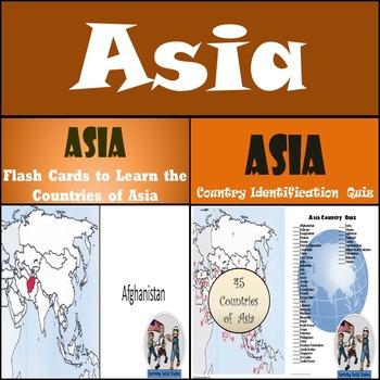 Asia - Flash Cards & Quiz Bundle!