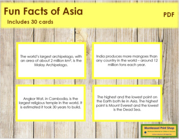 Asia Fun Facts (color borders)