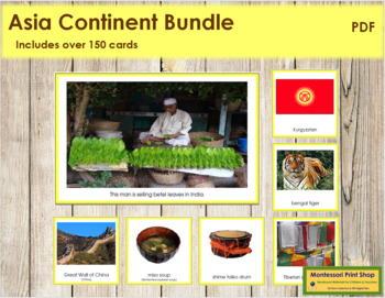Asia Geography Continent Bundle - (Color Borders)
