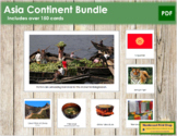 Asia Geography Continent Bundle - Montessori Geography Cards