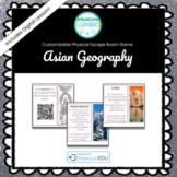 Asian Geography Customizable Escape Room / Breakout Game
