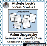 Asia Geography Introduction Atlas Activity