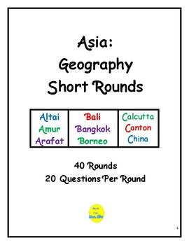 Asia Geography Short Rounds