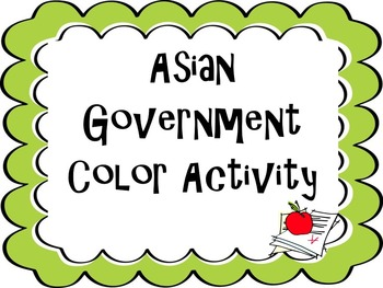 Asia Government Color Activity