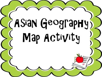 Asia Map Activity