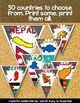 ASIA MIDDLE EAST COUNTRIES CLASSROOM DECOR MAKE YOUR OWN PENNANT BANNER