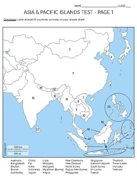 Asia & Pacific Islands Test Map