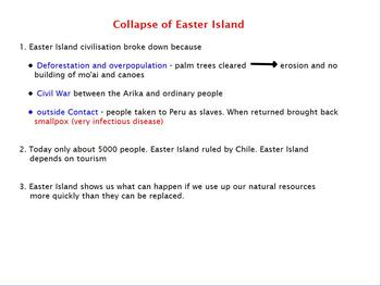 Asia- Pacific Polynesian Expansion - Collapse of Easter Island Flipchart