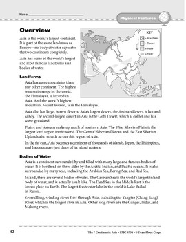 Asia: Physical Features: Overview & Review