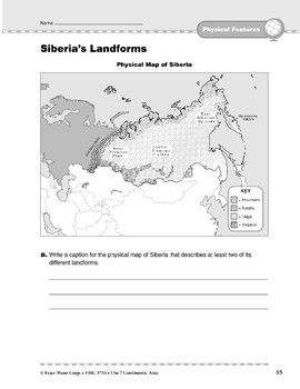 Asia: Physical Features: Siberia's Landforms