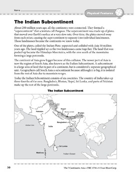 Asia: Physical Features: The Indian Subcontinent