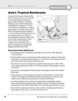 Asia: Physical Features: Tropical Rainforests
