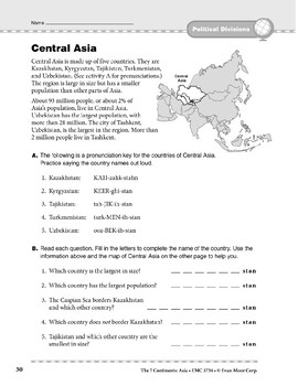 Asia: Political Divisions: Central Asia