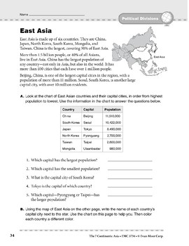 Asia: Political Divisions: East Asia