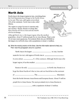 Asia: Political Divisions: North Asia
