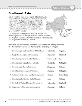 Asia: Political Divisions: Southeast Asia