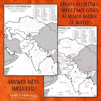 Asia: Political Map Unit Bundle by Region