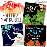 Asia: Political Map Unit Bundle by Region