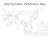 Asia Population Distribution Map