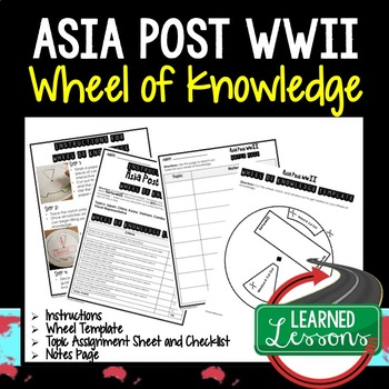Asia Post WWII Activity, Wheel of Knowledge (Interactive Notebook)