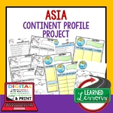 Asia Project Activity Pages (Paper and Google Drive) World Geography