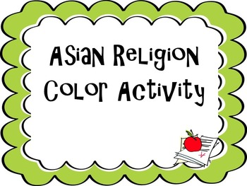 Asian Religion Color Activity