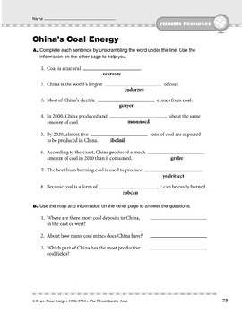 Asia: Resources: China's Coal Energy