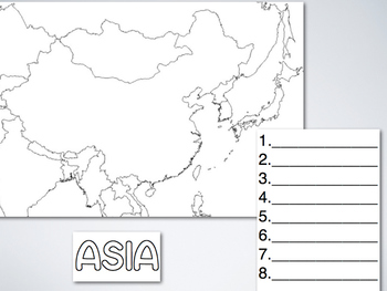 "Asia Song Map pdf from ""Geography Songs"" by Kathy Troxel"