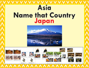 Asia Studies: Name that Country - Japan Bundle