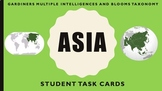 Asia Studies Task Cards - Multiple Intelligences and Blooms Taxonomy