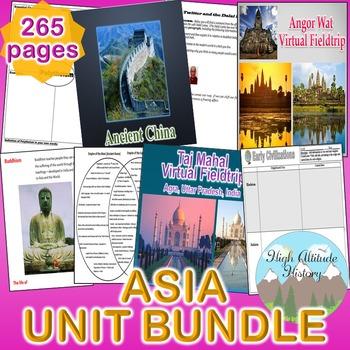 Asia Unit (Geography) South Asia, East Asia, Southeast Asia *Unit Bundle*