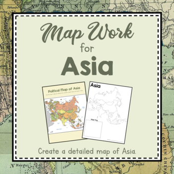 Map Of Asia Land Features.Asia Unit Study Map Work For Asia