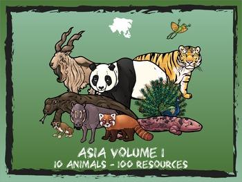 Asia Volume 1 -- 10 Wild Animals -- 100 K-2 Resources