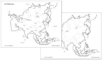Asian Waterways Map