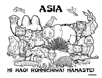 Asia Wildlife Coloring Page By Clark Creative Science Tpt