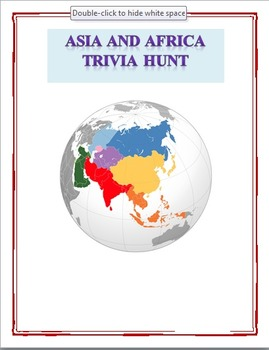 Asia and Africa Trivia Hunt Activity