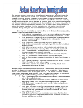 Asian American Immigration Handout w/ questions