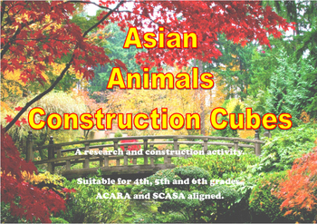 Asian Animal Construction Cubes
