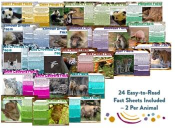 Asian Animal Factballs and Information Sheets